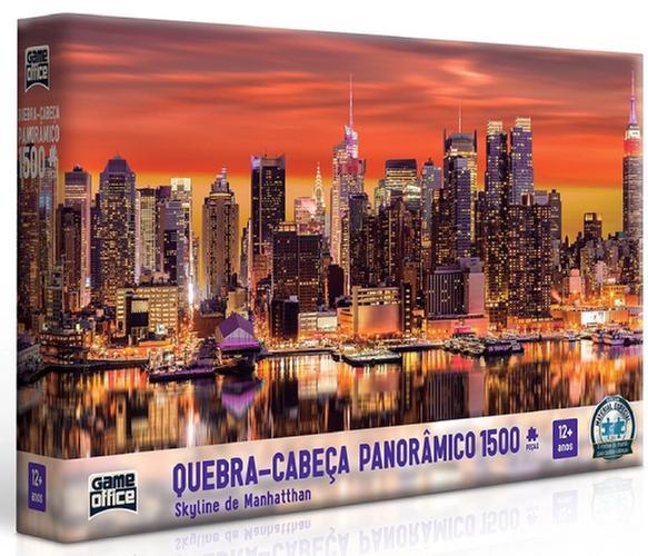 QUEBRA CABECA 1500PCS PANORAMICO SKYLINE DE MANHATTHAN 2642 GAME OFFICE