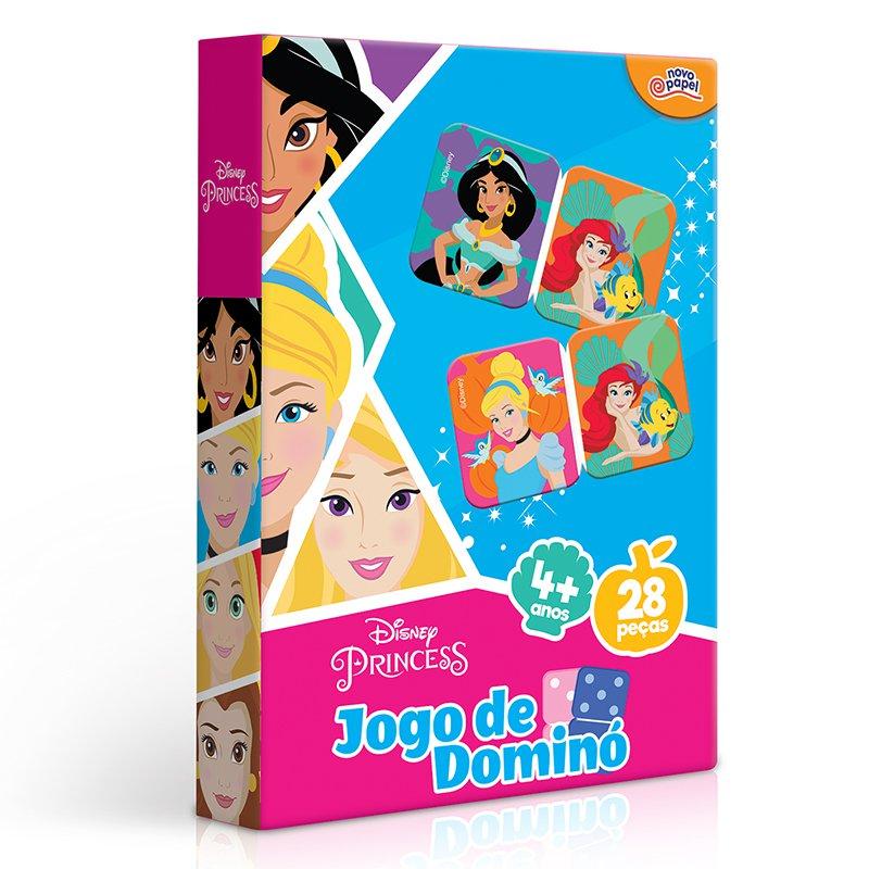 JOGO DE DOMINO PRINCESAS DISNEY 8009 NOVO PAPEL
