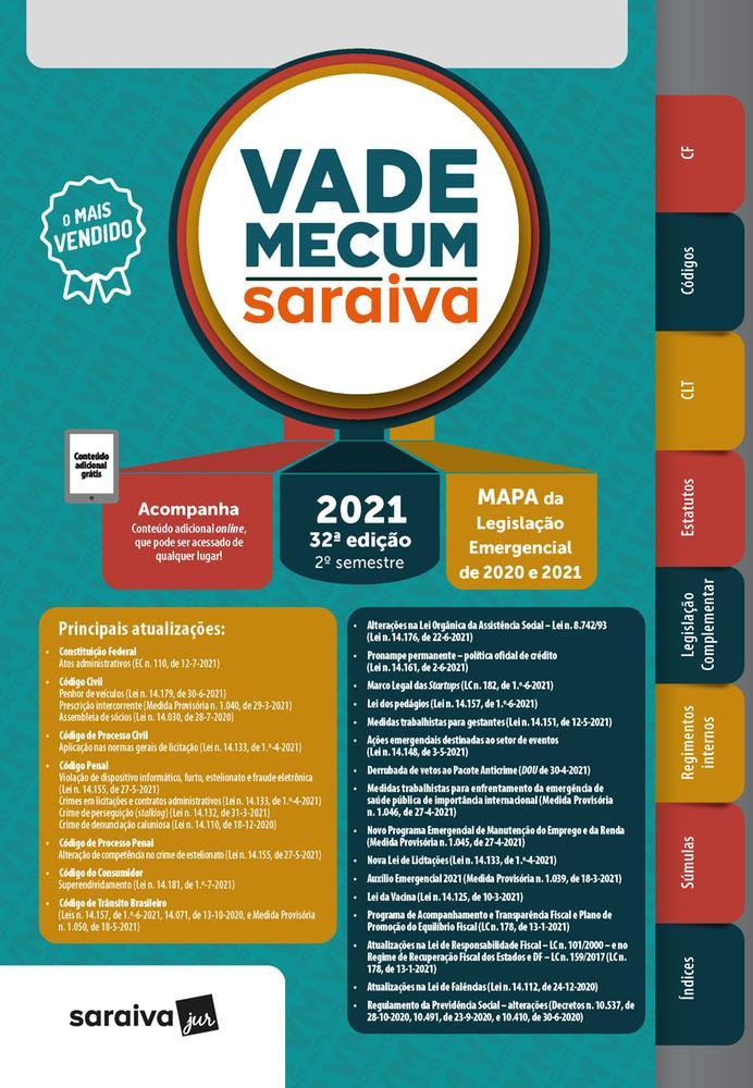 VADE MECUM 2021 - 2 SEMESTRE - SARAIVA