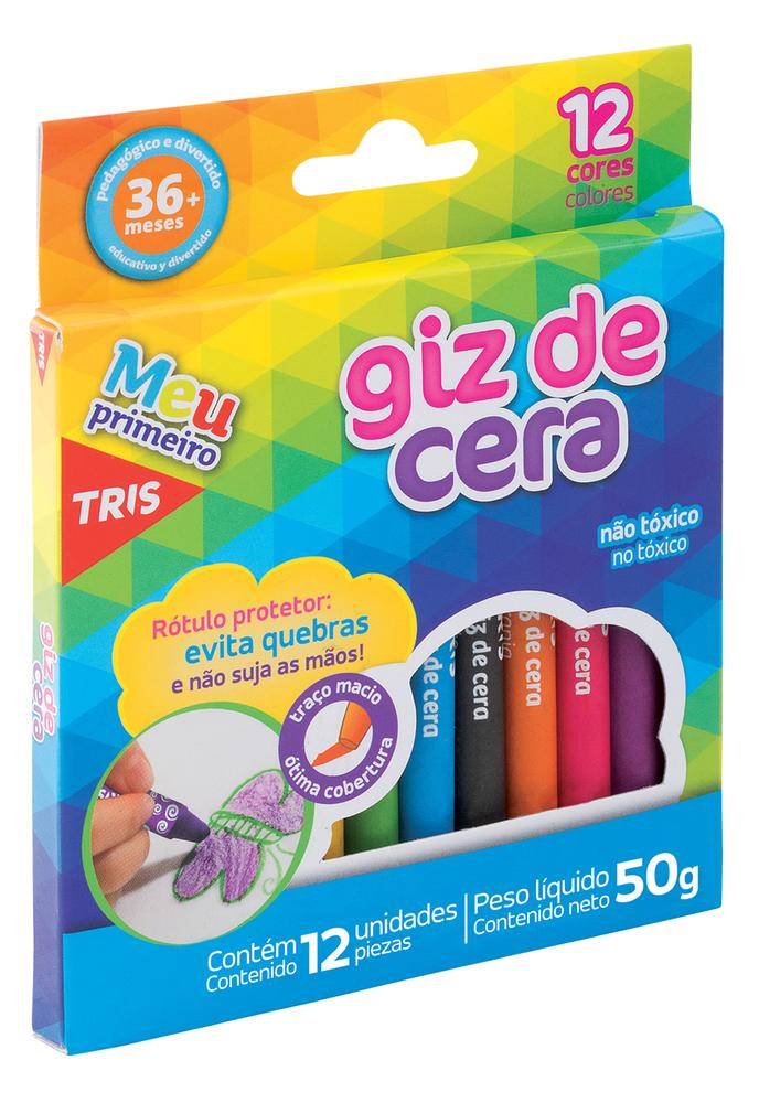 GIZ DE CERA 12 CORES TRIS FINO 684673 SUMMIT